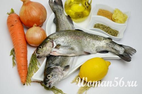 Форель на овощной подушке. Речная форель запеченная в духовке целиком рецепт с фото